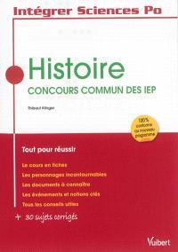 Histoire : concours commun des IEP