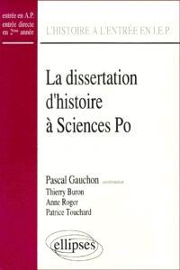 La dissertation d'histoire à Sciences-Po