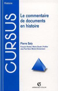 Le commentaire de documents en histoire