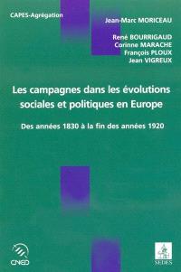 Les campagnes dans les évolutions sociales et politiques en Europe : des années 1830 à la fin des années 1920 : étude comparée de la France, de l'Allemagne, de l'Espagne et de l'Italie