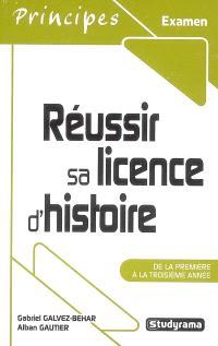 Réussir sa licence d'histoire : de la première à la troisième année