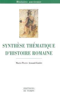 Synthèse thématique d'histoire romaine