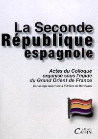 La seconde République espagnole