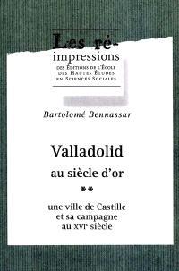Valladolid au siècle d'or : une ville de Castille et sa campagne au XVIe siècle