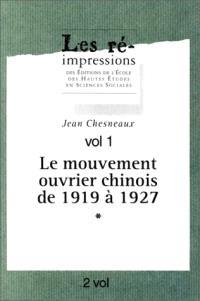 Le mouvement ouvrier chinois de 1919 à 1927