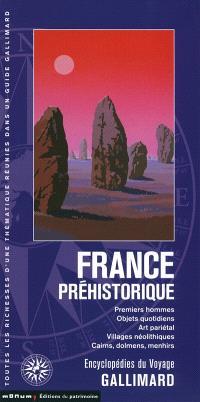 France préhistorique : premiers hommes, objets quotidiens, art pariétal, villages néolithiques, cairns, dolmens, menhirs