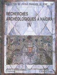 Recherches archéologiques à Haïdra. Volume 4, La basilique II dite de Candidus ou des martyrs de la persécution de Dioclétien
