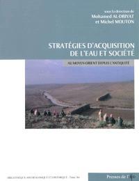 Stratégies d'acquisition de l'eau et société au Moyen-Orient depuis l'Antiquité : études de cas