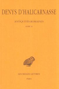 Antiquités romaines. Volume 3