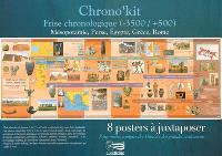 Chrono'kit : frise chronologique (-3500-+500) : Mésopotamie, Perse, Egypte, Grèce, Rome