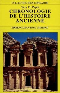 Chronologie de l'histoire ancienne