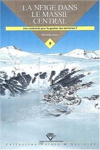 La neige dans le Massif central : une contrainte pour la gestion des territoires ?