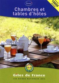 Chambres et tables d'hôtes 2012