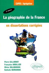 La géographie de la France en dissertations corrigées