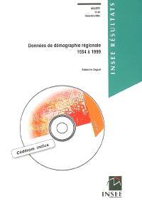 Données de démographie régionale, 1954 à 1999