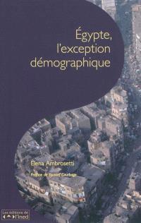 Egypte, l'exception démographique