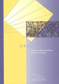 Evolution démographique récente en Europe : 2001
