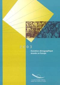 Évolution démographique récente en Europe : 2003