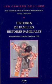 Histoires de familles, histoires familiales : les résultats de l'enquête Famille de 1999 : étude de l'histoire familiale de 1999