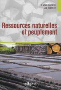 Ressources naturelles et peuplement : enjeux et défis