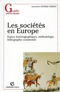 Les sociétés en Europe du milieu du VIe à la fin du IXe siècle