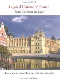 Leçon d'histoire de France : Saint-Germain-en-Laye : des antiquités nationales à une ville internationale
