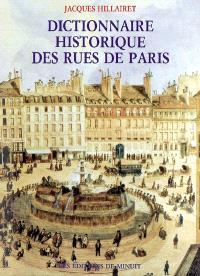 Dictionnaire historique des rues de Paris