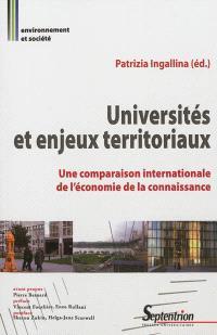 Universités et enjeux territoriaux : une comparaison internationale de l'économie de la connaissance