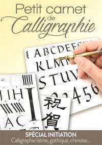 Petit carnet de calligraphie : spécial initiation : calligraphie latine, gothique, chinoise...
