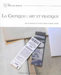 La critique : art et pratique
