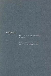 Ecrits sur la musique, 1924-1956