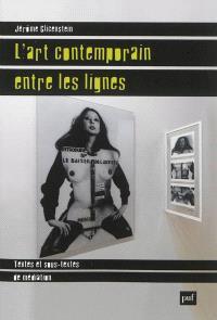 L'art contemporain entre les lignes : textes et sous-textes de médiation