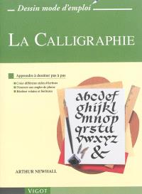 La calligraphie : apprendre à dessiner pas à pas : créer différents styles d'écriture, s'exercer aux angles de plume, réaliser volutes et fioritures