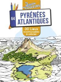 Pyrénées atlantiques, 64 : 30 lieux incontournables à colorier