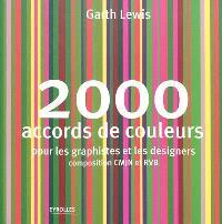 2.000 accords de couleurs : pour les graphistes et les designers, composition CMJN et RVB