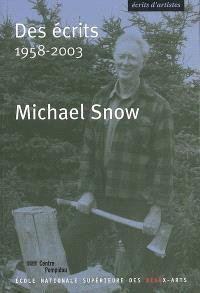 Des écrits, 1958-2003