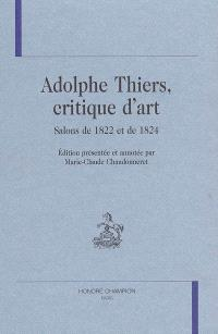 Adolphe Thiers, critique d'art : salons de 1822 et de 1824