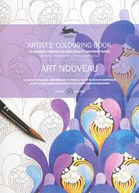 Artists' colouring book = Livret de coloriage artistes = Künstler-Malbuch, Art nouveau