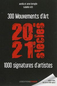 300 mouvements d'art, 1.000 signatures d'artistes : XXe-XXIe siècles