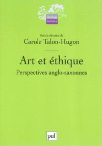 Art et éthique : perspectives anglo-saxonnes