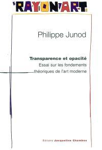 Transparence et opacité : essai sur les fondements théoriques de l'art moderne : pour une nouvelle lecture de Konrad Fiedler