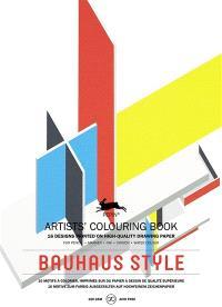 Artists' colouring book = Livret de coloriage artistes = Künstler-Malbuch, Bauhaus style