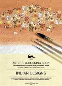 Artists' colouring book = Livret de coloriage artistes = Künstler-Malbuch, Indian designs