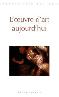 L'oeuvre d'art aujourd'hui : séminaire Interarts de Paris, 2000-2001