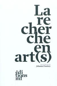 La recherche en art(s)