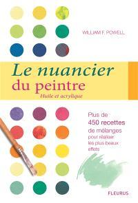 Le nuancier du peintre : huile et acrylique : plus de 450 recettes de mélanges pour réaliser les plus beaux effets