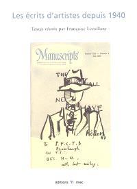 Les écrits d'artistes depuis 1940 : actes du colloque international Paris et Caen, 6-9 mars 2002