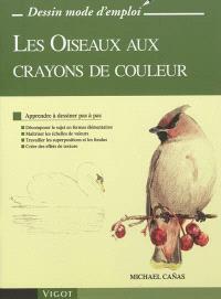 Les oiseaux aux crayons de couleur