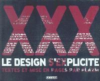 XXX : le design s'explicite