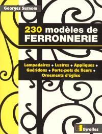 230 modèles de ferronnerie